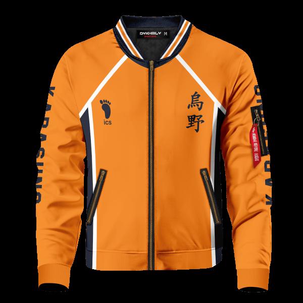 personalized karasuno libero bomber jacket 421424 - Anime Jacket