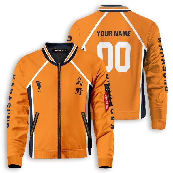 personalized karasuno libero bomber jacket 455421 - Anime Jacket