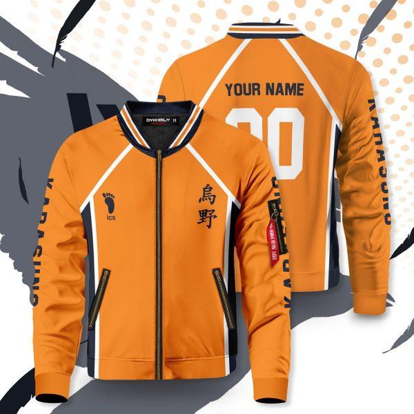 personalized karasuno libero bomber jacket 980414 - Anime Jacket