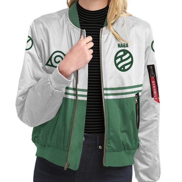 personalized nara clan bomber jacket 543804 - Anime Jacket