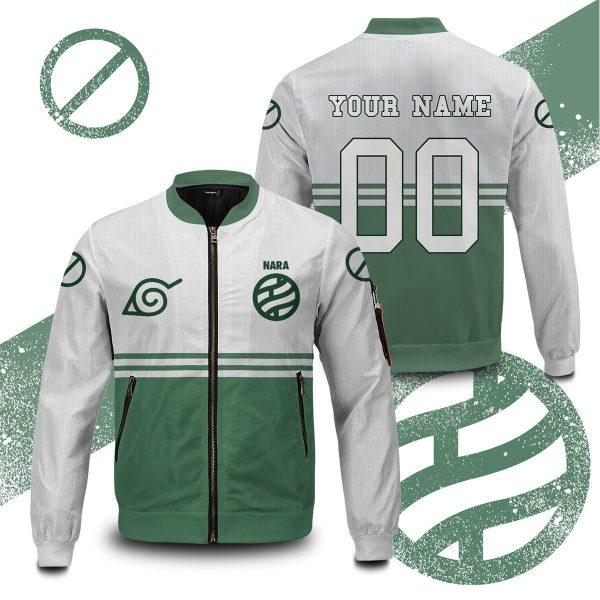 personalized nara clan bomber jacket 556493 - Anime Jacket
