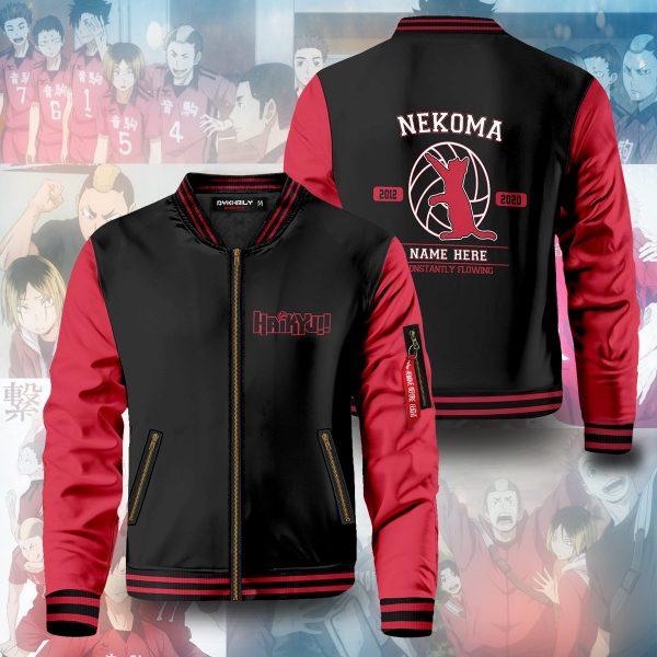 personalized nekoma constantly flowing bomber jacket 573340 - Anime Jacket