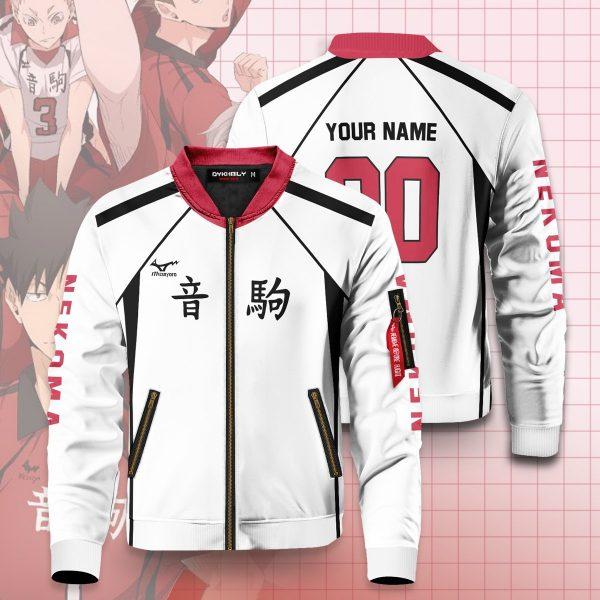 personalized nekoma libero bomber jacket 346454 - Anime Jacket