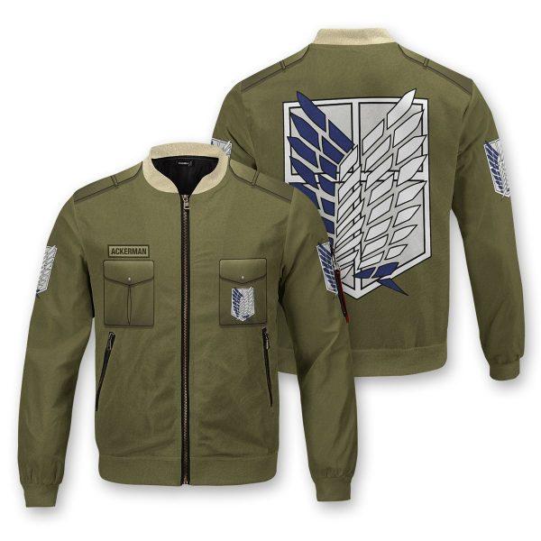 personalized new survey corps uniform bomber jacket 109236 - Anime Jacket