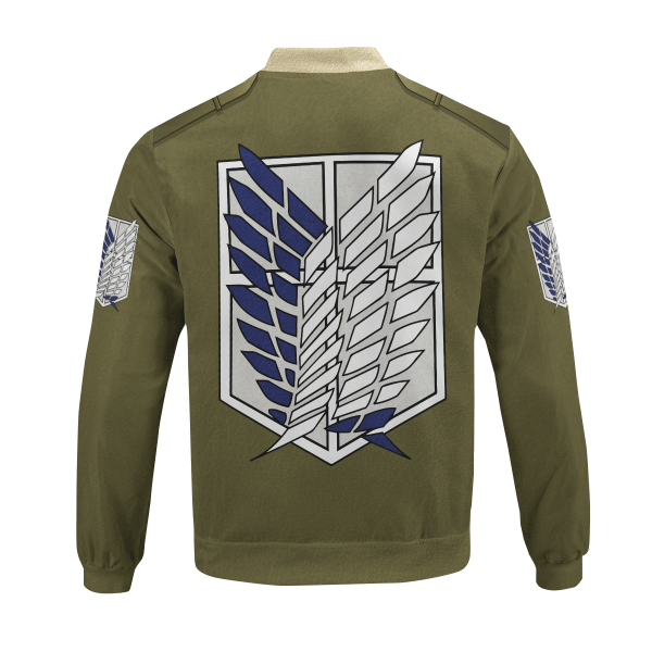 personalized new survey corps uniform bomber jacket 833418 - Anime Jacket