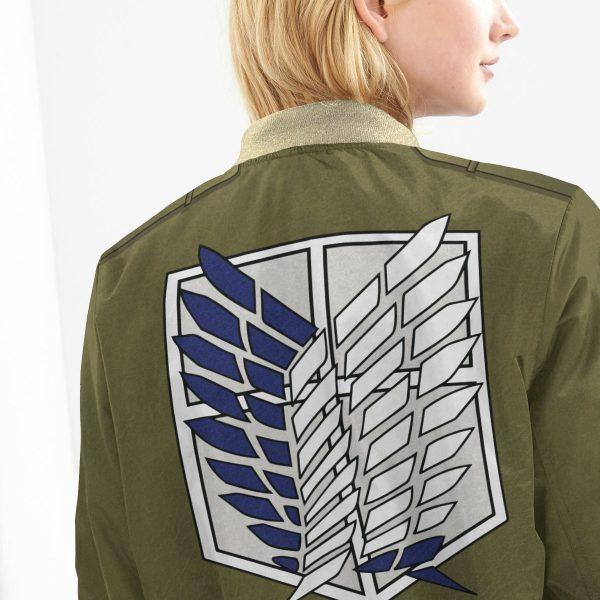 personalized new survey corps uniform bomber jacket 944220 - Anime Jacket