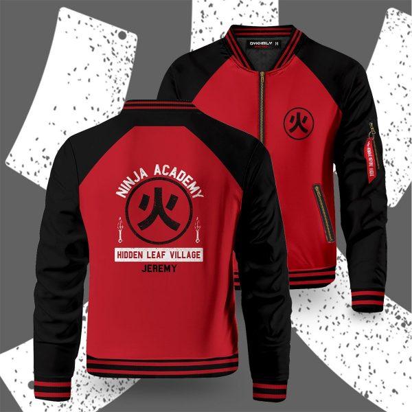 personalized ninja academy bomber jacket 285458 - Anime Jacket