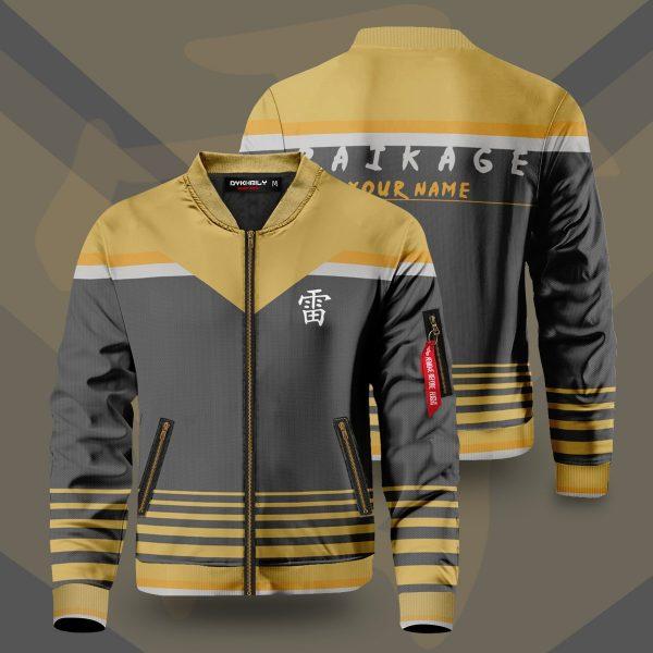 personalized raikage bomber jacket 132238 - Anime Jacket