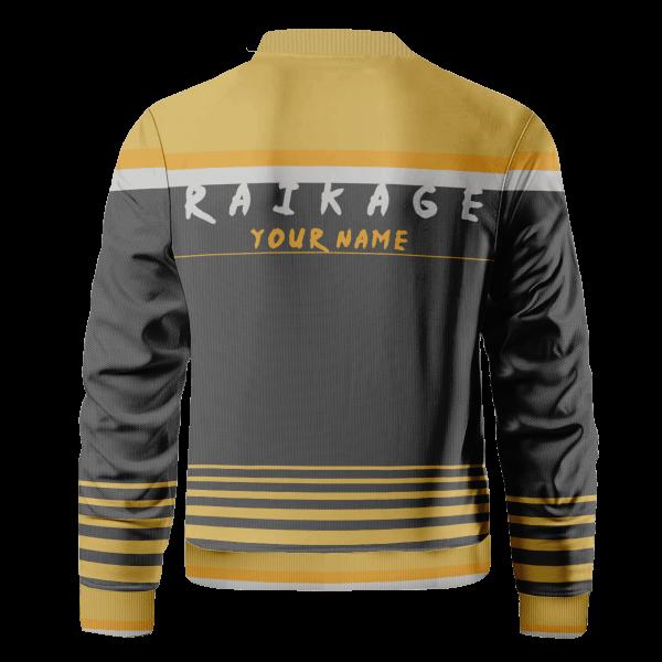 personalized raikage bomber jacket 539662 - Anime Jacket