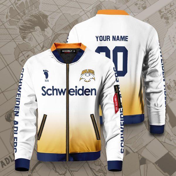 personalized schweiden adlers bomber jacket 331320 - Anime Jacket