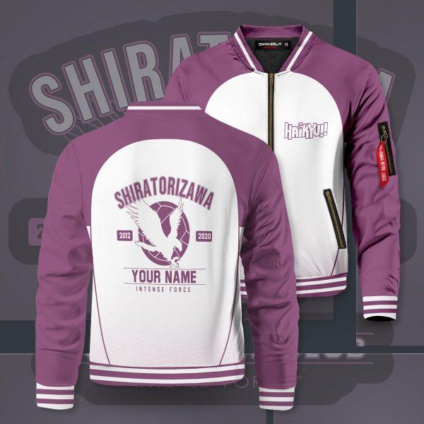 personalized shiratorizawa intense force bomber jacket 433529 - Anime Jacket