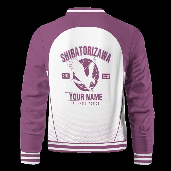 personalized shiratorizawa intense force bomber jacket 848765 - Anime Jacket