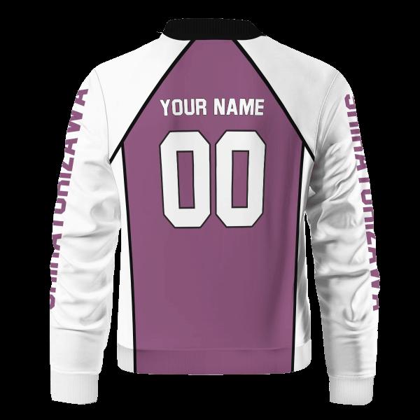 personalized shiratorizawa libero bomber jacket 368327 - Anime Jacket