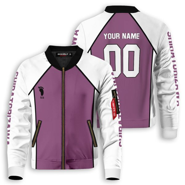 personalized shiratorizawa libero bomber jacket 399443 - Anime Jacket