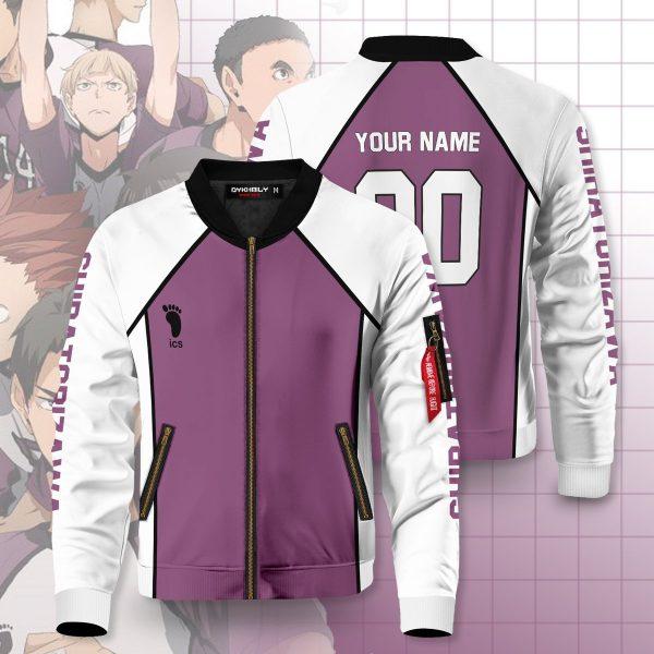 personalized shiratorizawa libero bomber jacket 406766 - Anime Jacket