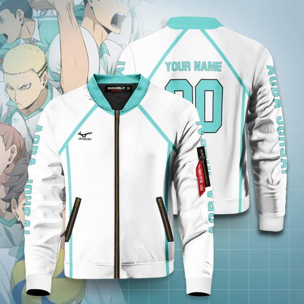 personalized team aoba johsai bomber jacket 802518 - Anime Jacket