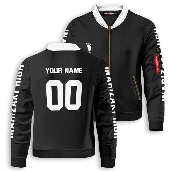 personalized team inarizaki bomber jacket 232030 - Anime Jacket