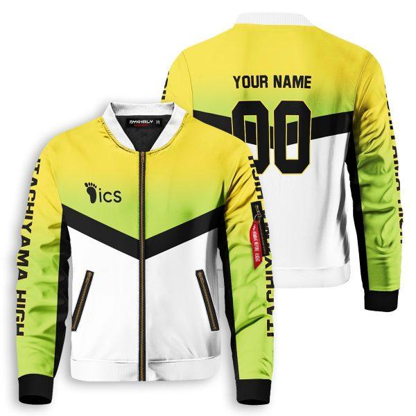 personalized team itachiyama bomber jacket 589741 - Anime Jacket