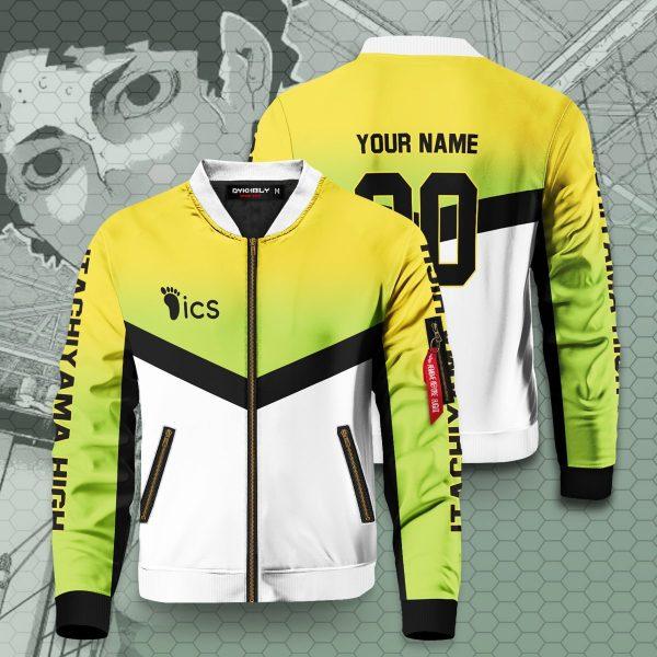 personalized team itachiyama bomber jacket 890859 - Anime Jacket