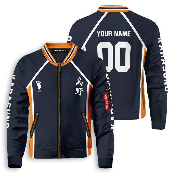 personalized team karasuno bomber jacket 327245 - Anime Jacket