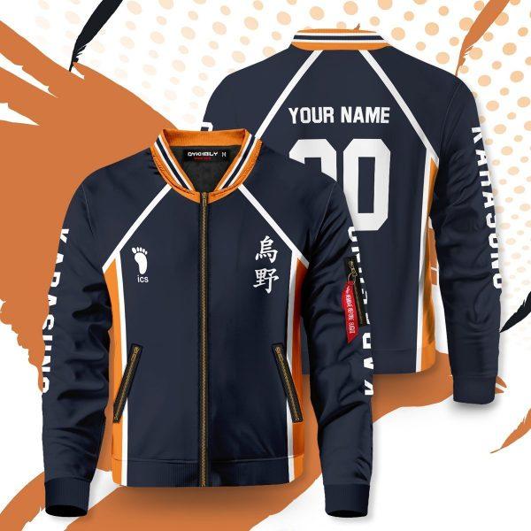 personalized team karasuno bomber jacket 905043 - Anime Jacket