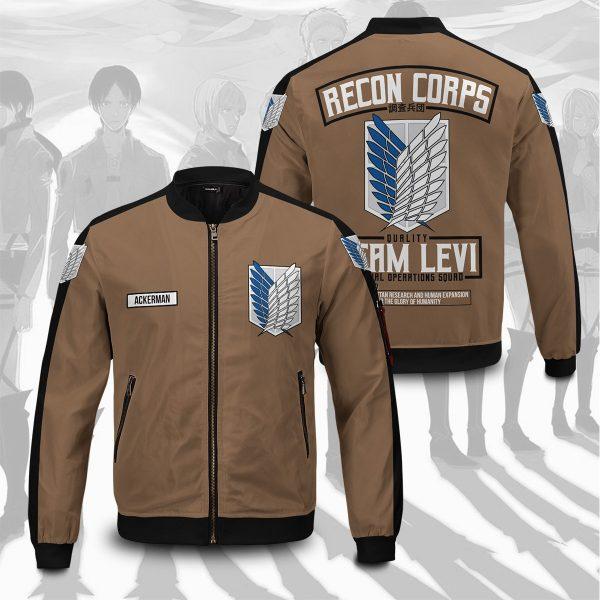 personalized team levi bomber jacket 295999 - Anime Jacket