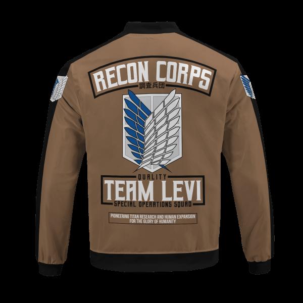personalized team levi bomber jacket 336679 - Anime Jacket