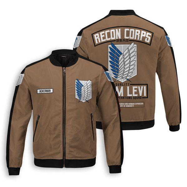 personalized team levi bomber jacket 899037 - Anime Jacket