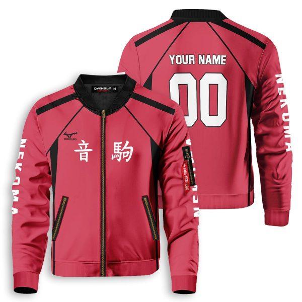 personalized team nekoma bomber jacket 316457 - Anime Jacket