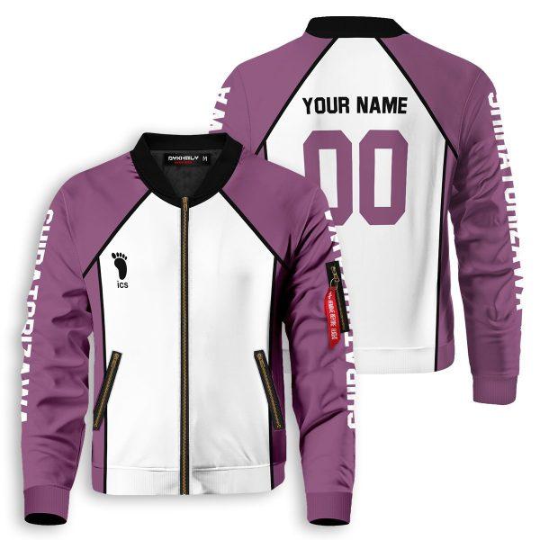 personalized team shiratorizawa bomber jacket 480670 - Anime Jacket