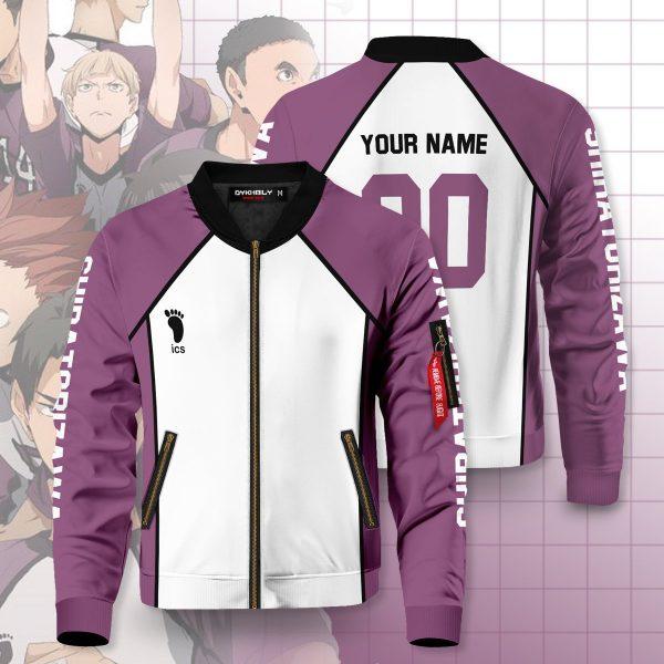 personalized team shiratorizawa bomber jacket 937284 - Anime Jacket