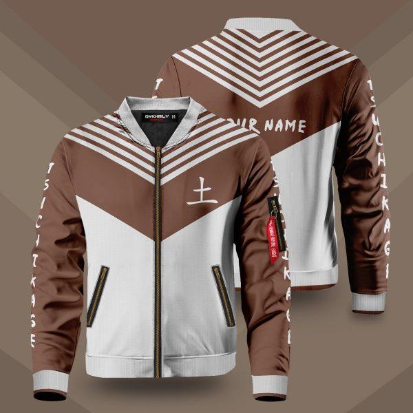 personalized tsuchikage bomber jacket 345115 - Anime Jacket