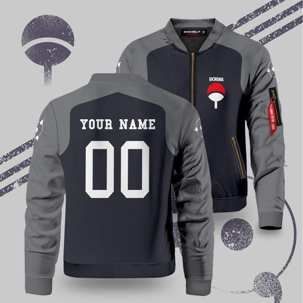 personalized uchiha fire bomber jacket 992148 - Anime Jacket