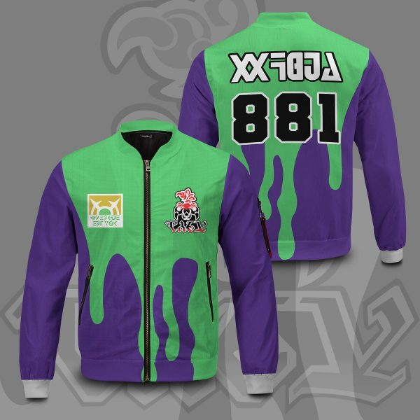 pokemon poison uniform bomber jacket 600985 - Anime Jacket