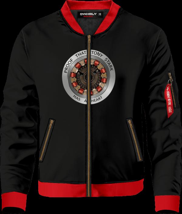 proof that tony stark has a heart bomber jacket 418463 - Anime Jacket