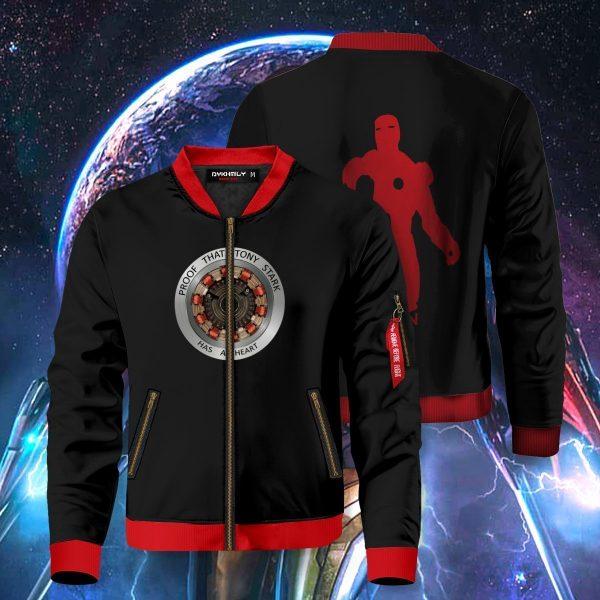 proof that tony stark has a heart bomber jacket 924368 - Anime Jacket