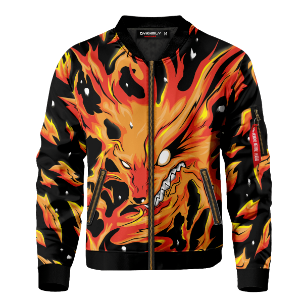 raging kurama bomber jacket 604956 - Anime Jacket