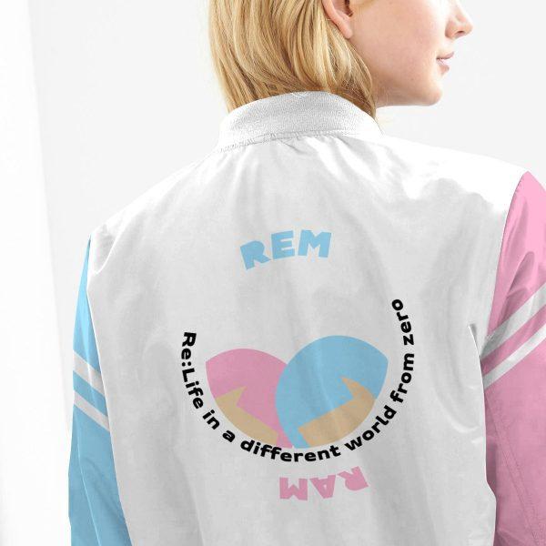 re zero rem ram bomber jacket 224188 - Anime Jacket
