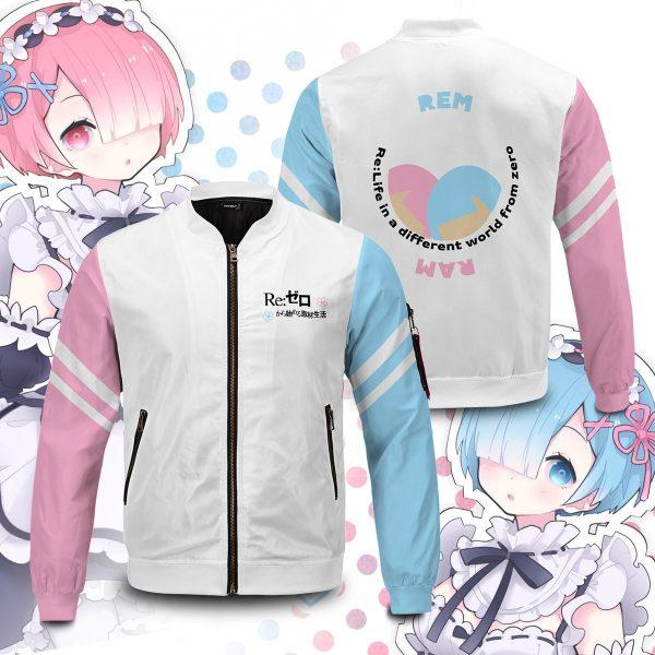 re zero rem ram bomber jacket 484263 - Anime Jacket