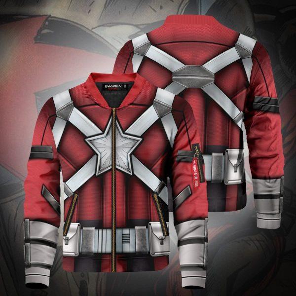 red guardian bomber jacket 207253 - Anime Jacket