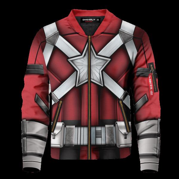 red guardian bomber jacket 313903 - Anime Jacket
