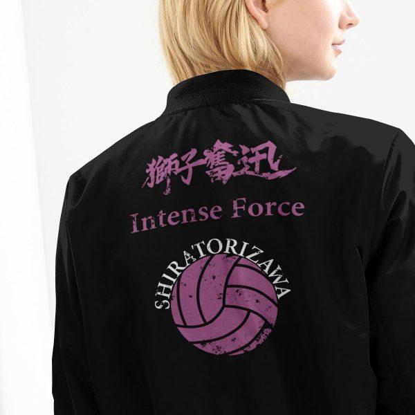 shiratorizawa rally bomber jacket 487665 - Anime Jacket
