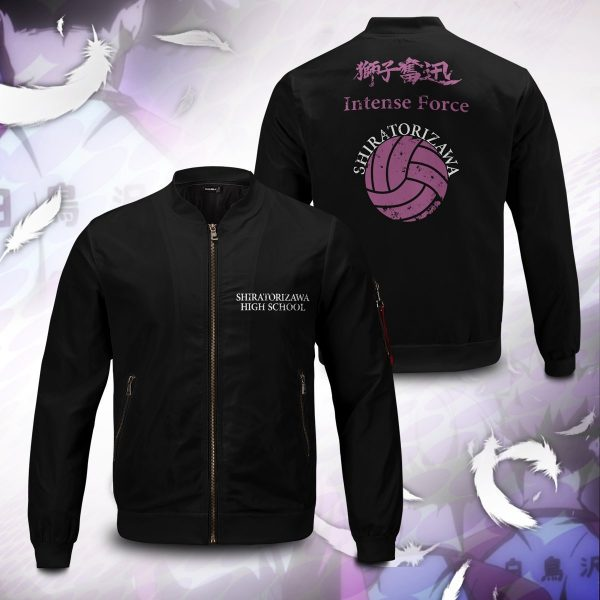 shiratorizawa rally bomber jacket 522021 - Anime Jacket