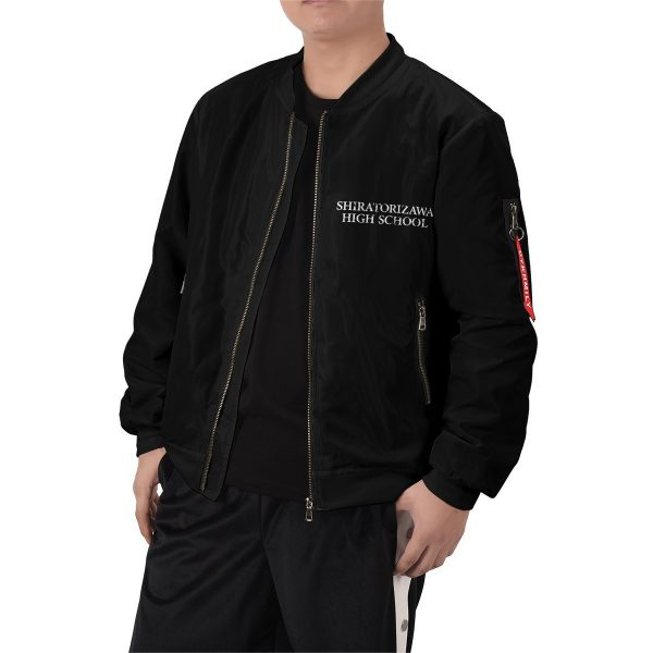 shiratorizawa rally bomber jacket 815307 - Anime Jacket