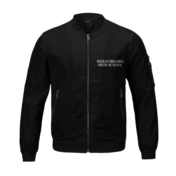shiratorizawa rally bomber jacket 971796 - Anime Jacket