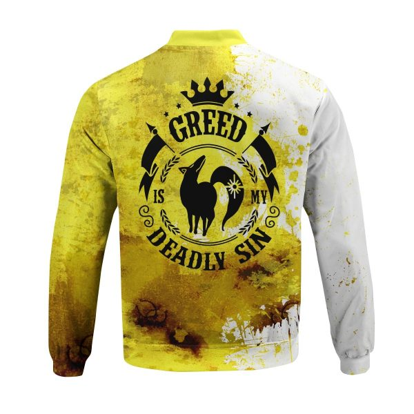 sin of greed bomber jacket 502513 - Anime Jacket