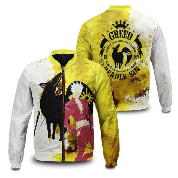 sin of greed bomber jacket 518537 - Anime Jacket