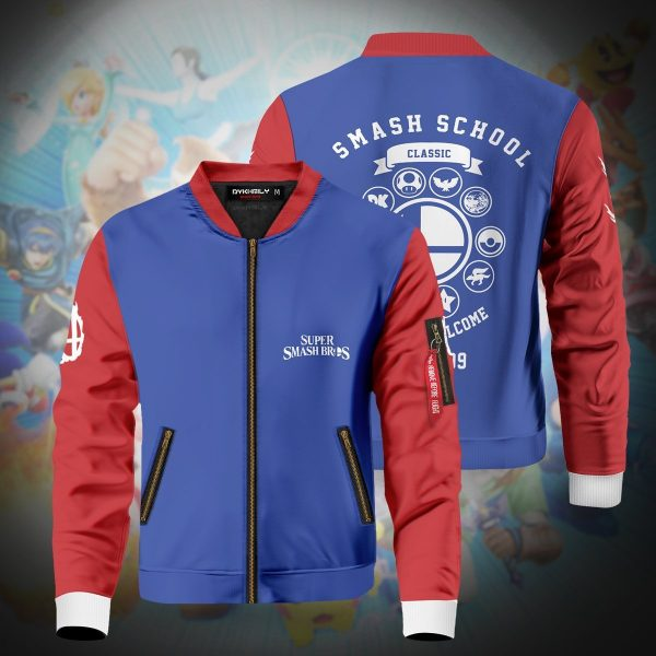 smash bros school bomber jacket 229150 - Anime Jacket