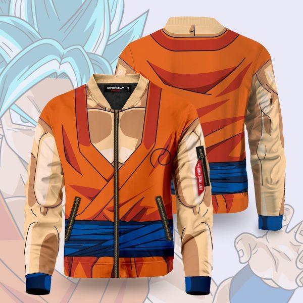 son goku buff bomber jacket 320035 - Anime Jacket