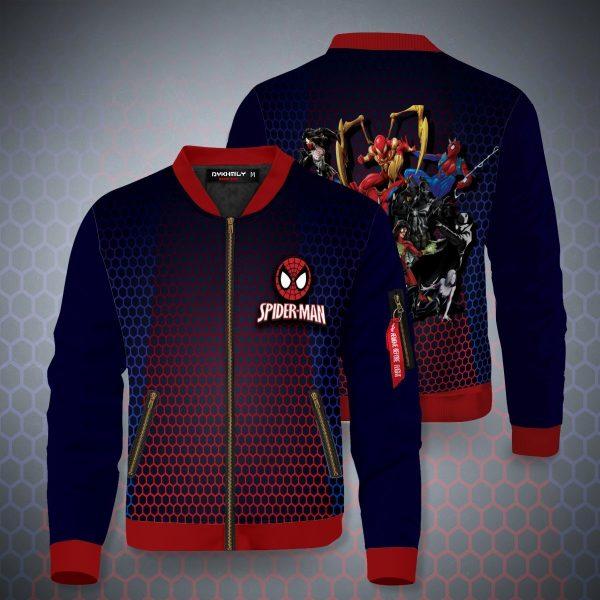 spiderman multiverse bomber jacket 650161 - Anime Jacket